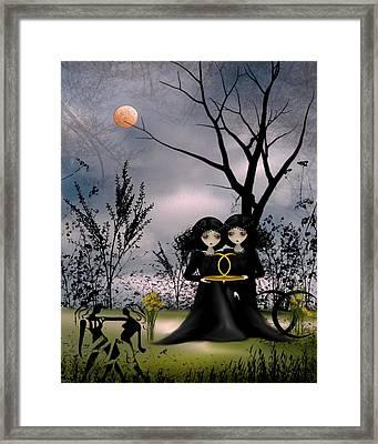 Gemini Framed Print by Charlene Zatloukal