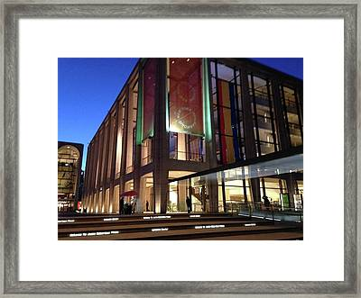 Gems Of Lincoln Center 2 Framed Print by Carolyn Quinn