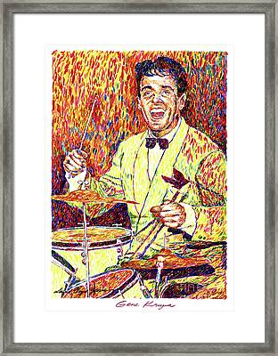 Gene Krupa The Drummer Framed Print by David Lloyd Glover