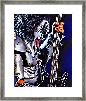 Gene Simmons Painting Framed Print by Scott Wallace