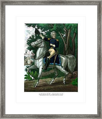 General Andrew Jackson On Horseback Framed Print by War Is Hell Store