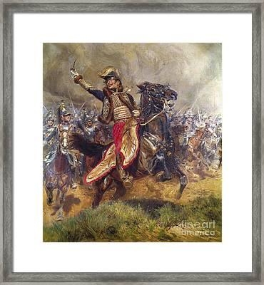 General Antoine-charles-louis Lasalle Framed Print by Jean Baptiste Edouard Detaille