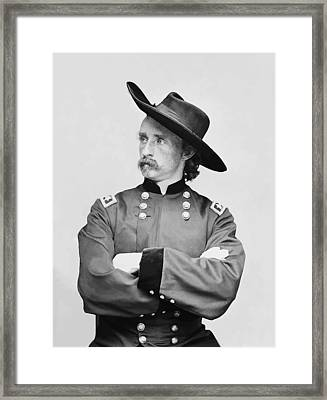 General Custer Framed Print by War Is Hell Store