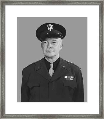 General Dwight D. Eisenhower Framed Print by War Is Hell Store