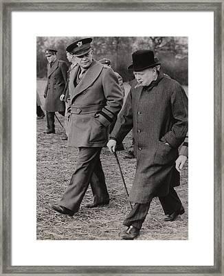 General Dwight Eisenhower, And Prime Framed Print by Everett