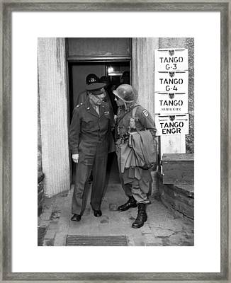 General Eisenhower And General Ridgway  Framed Print by War Is Hell Store