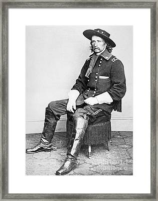 General George A Custer  Framed Print by Matthew Brady