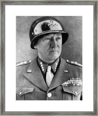 General George S. Patton Jr. 1885-1945 Framed Print by Everett