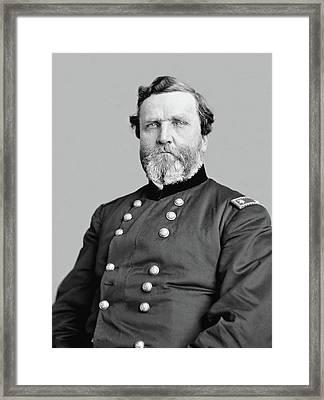 General George Thomas Framed Print by War Is Hell Store