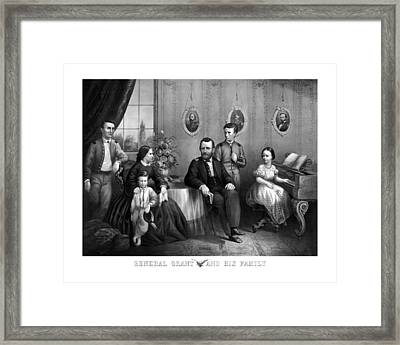General Grant And His Family Framed Print by War Is Hell Store
