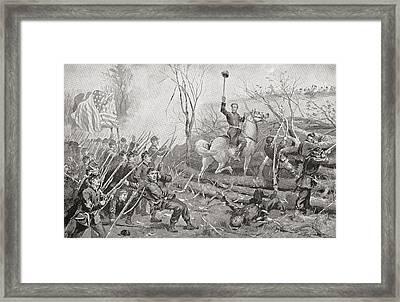 General Grant At The Battle Of Fort Framed Print by Vintage Design Pics
