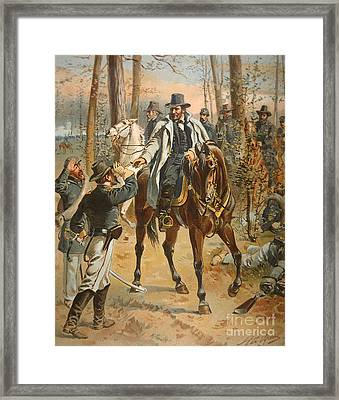 General Grant In The Wilderness Campaign 5th May 1864 Framed Print by Henry Alexander Ogden