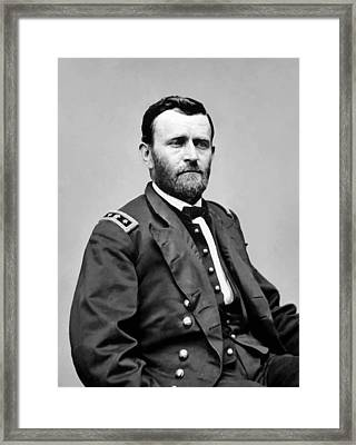 General Grant Framed Print by War Is Hell Store
