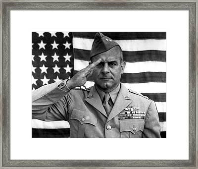 General James Doolittle Saluting Framed Print by War Is Hell Store