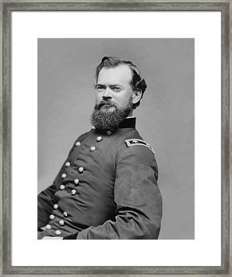 General James Mcpherson  Framed Print by War Is Hell Store