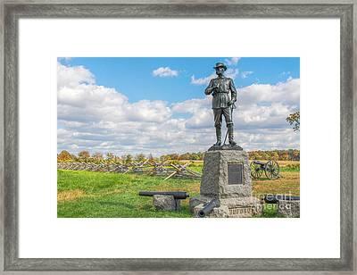 General John Buford Monument Gettysburg Framed Print by Randy Steele