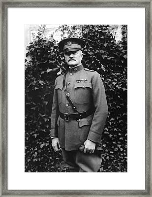 General John J. Pershing Framed Print by War Is Hell Store
