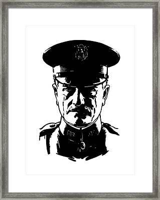 General John Pershing Framed Print by War Is Hell Store