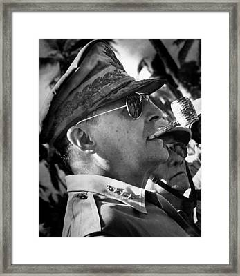 General Macarthur Framed Print by War Is Hell Store