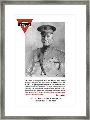 General Pershing - United War Works Campaign Framed Print by War Is Hell Store