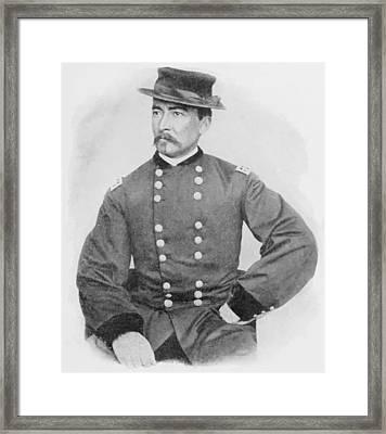 General Sheridan Civil War Portrait Framed Print by War Is Hell Store