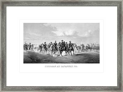 General Sherman At Savannah Framed Print by War Is Hell Store