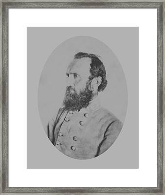 General Thomas Stonewall Jackson Framed Print by War Is Hell Store