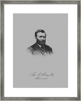 General Ulysses Grant And His Signature Framed Print by War Is Hell Store