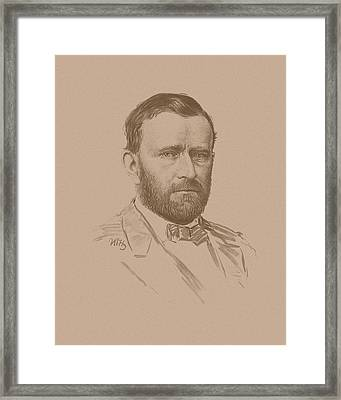 General Ulysses S Grant Framed Print by War Is Hell Store