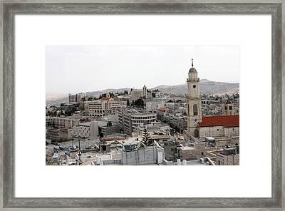 General View Of Bethlehem 2009 Framed Print by Munir Alawi