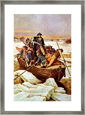 General Washington Crossing The Delaware River Framed Print by War Is Hell Store
