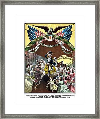 General Washington's Reception At Trenton Framed Print by War Is Hell Store