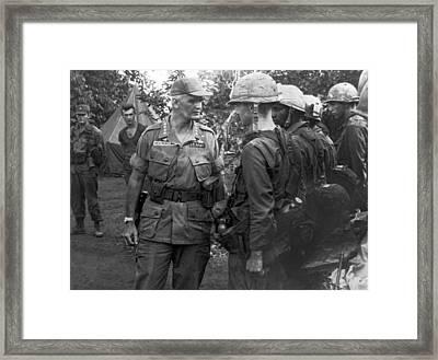 General Westmoreland Framed Print by Underwood Archives