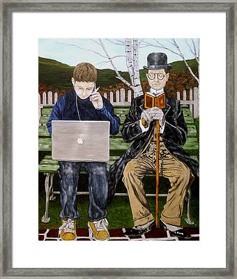 Generation Gap Framed Print by Troy Rohn