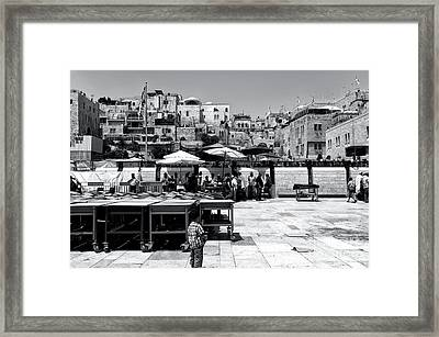 Generations On The Western Wall Plaza Framed Print by John Rizzuto