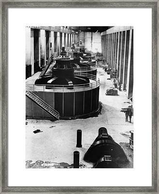 Generators At Hoover Dam Power House Framed Print by Everett