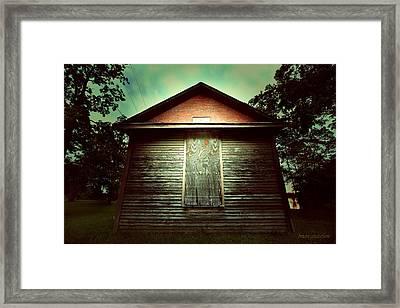 Genoa Schoolhouse Framed Print by Brian Gustafson