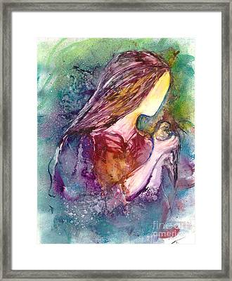 Gentile As A Dove Framed Print by Deborah Nell