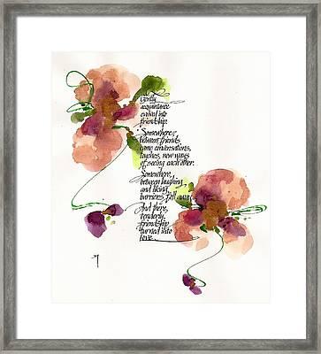 Gently Framed Print by Darlene Flood