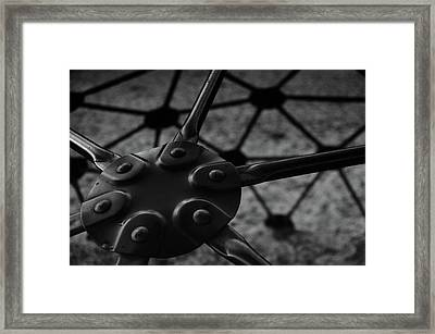Geodome Climber 2 Framed Print by Richard Rizzo