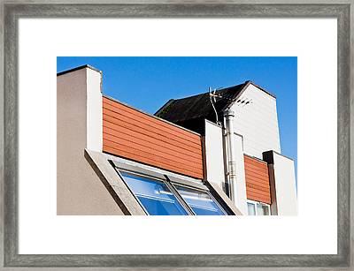 Geometric Building Framed Print by Tom Gowanlock