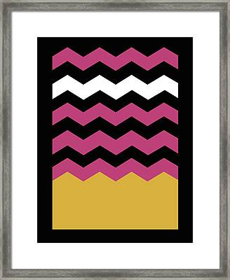 Geometric Chevron Colors 1 Framed Print by Francisco Valle
