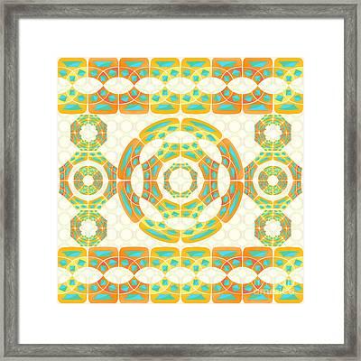 Geometric Composition Framed Print by Gaspar Avila