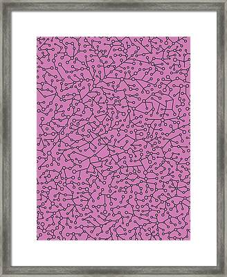 Geometric Conections 2 Framed Print by Francisco Valle
