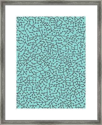 Geometric Conections 3 Framed Print by Francisco Valle