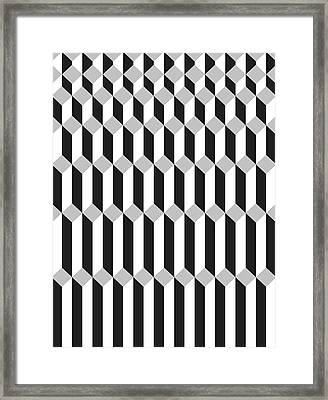 Geometric Cube Illusion 1 Framed Print by Francisco Valle