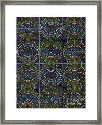 Geometric Harmony Framed Print by Norma Appleton