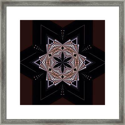 Geometric Kaleidoscope Framed Print by Laura Mountainspring
