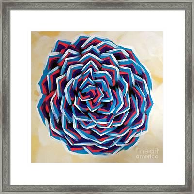 Geometric Rose Framed Print by Jilian Cramb - AMothersFineArt