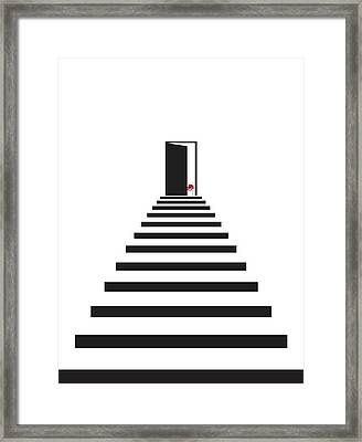 Geometric Stairs Flower Framed Print by Francisco Valle